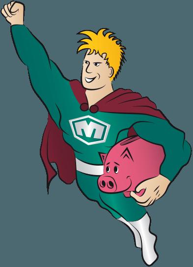 Maxflex Figur mit Sparschwein